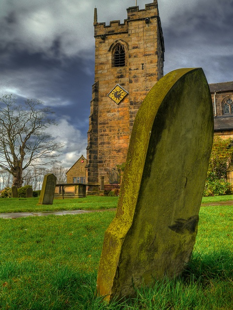 Headstone in St Marys, Ashton-on-Ribble, Preston, England