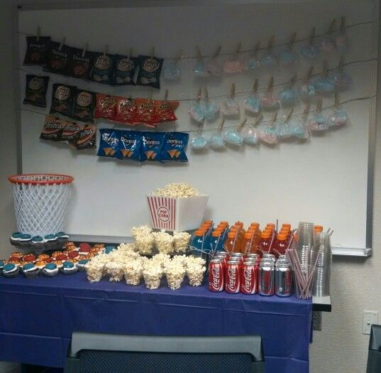 Basketball baby shower, work baby shower, guys baby shower, concession stand