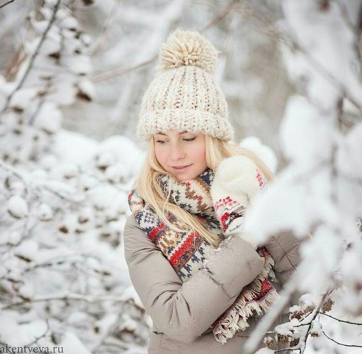 красива, примеры идей для зимней фотосессии современных