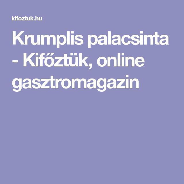 Krumplis palacsinta - Kifőztük, online gasztromagazin