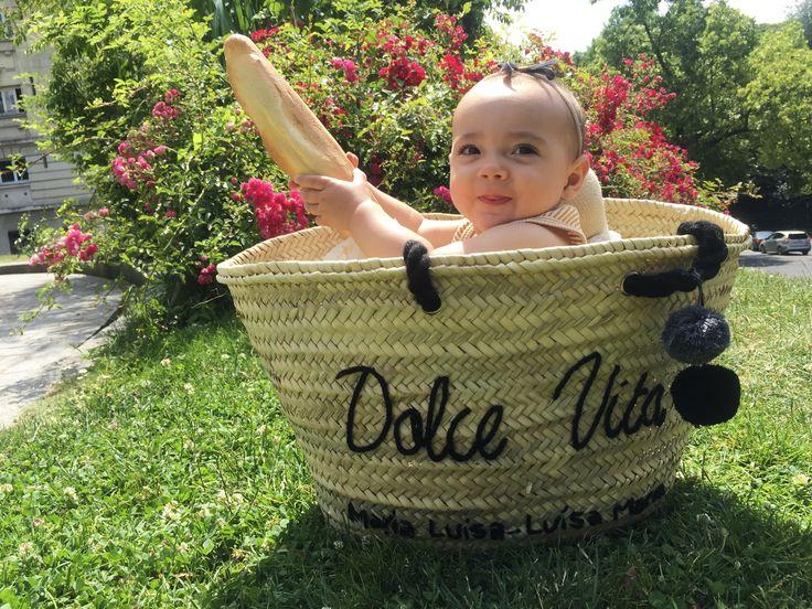 Parisian Baby in a Basket