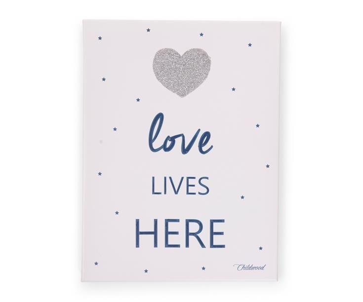 Bonvagon - Çocuk Mobilyası - Yaglı Boya Kanvas Tablo 'Love Lıves Here'