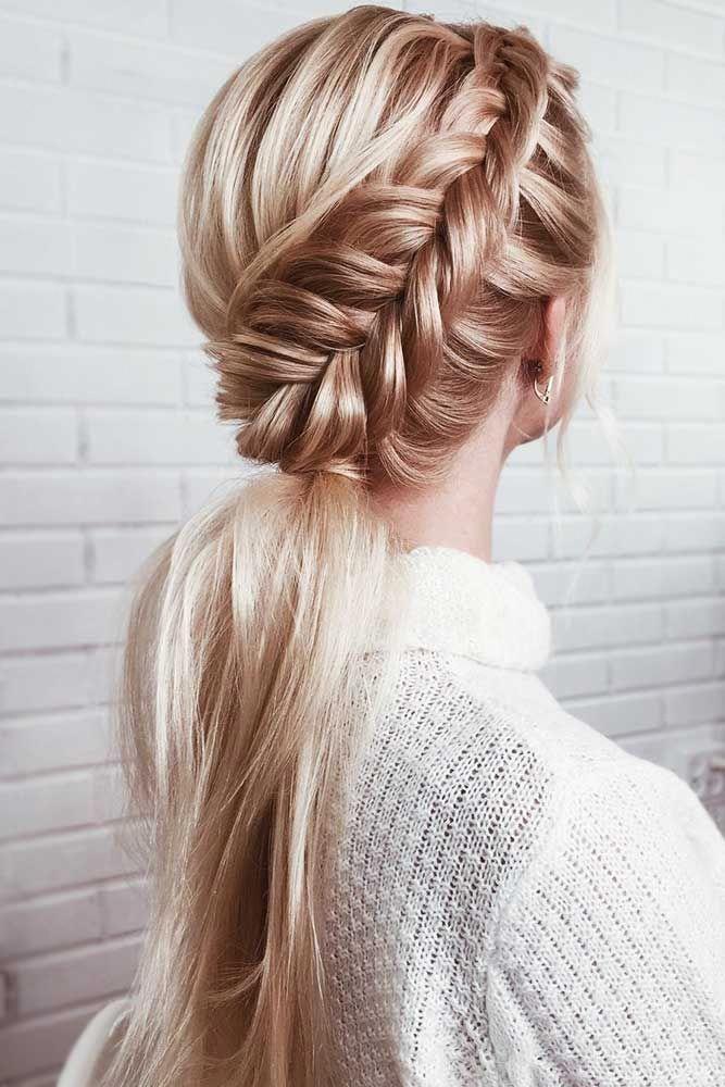 Langes glattes Haar mit Schichten | Haarglätter | Glattes Haar Party Frisuren 20190911