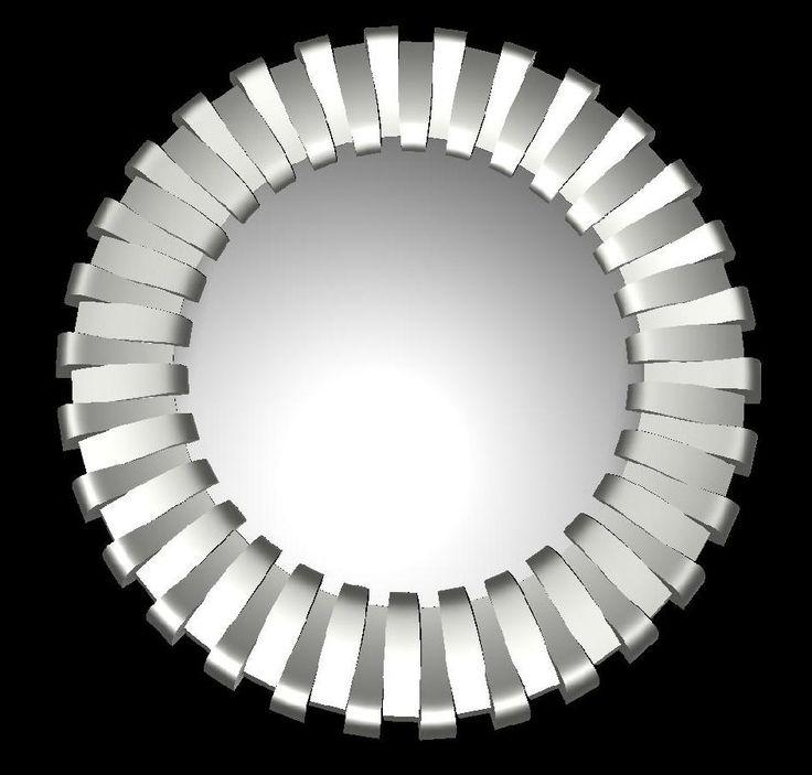 zrkadlo anelli v ral 9006 Alluminio brillante