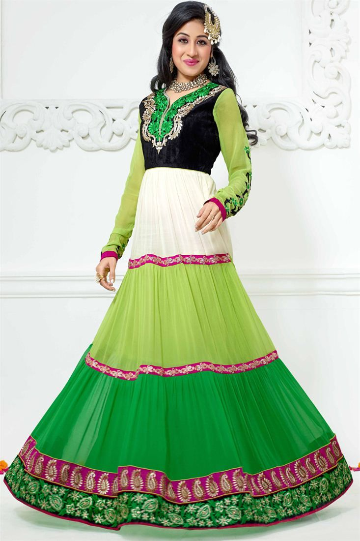 Paridhi Sharma Designer Anarkali Salwar Suit - $65.50