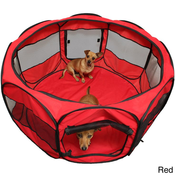 Oxgord Cat/ Dog Play Pen Comfort Travel Portable Pop-up Soft-sided Pet Playpen