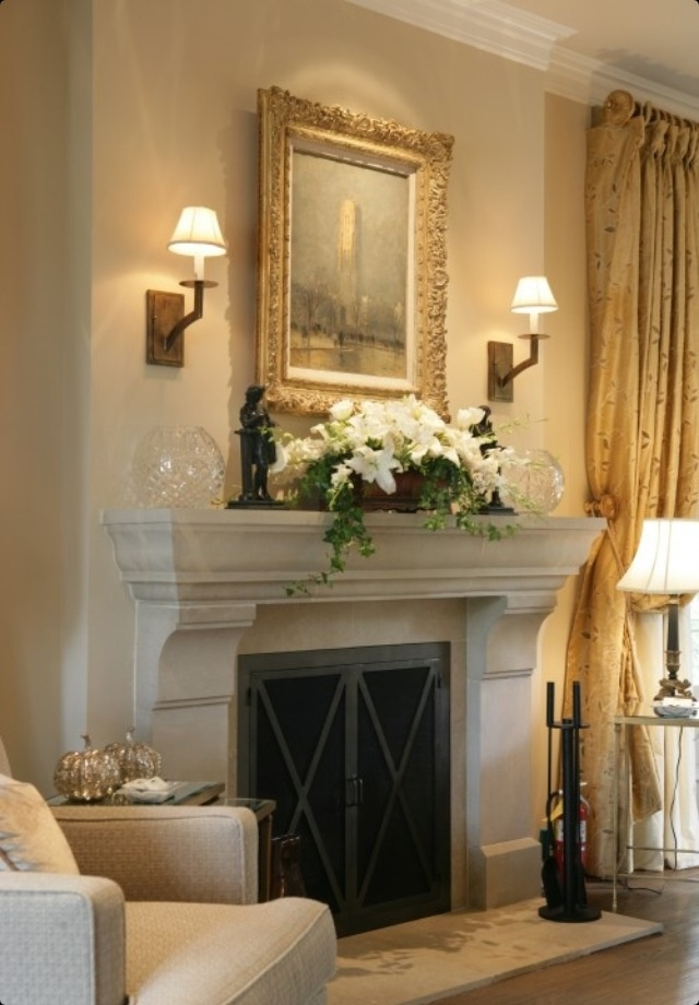 I like how this fireplace mantle is styled. I can't decide whether or not to add a mantle to mine.