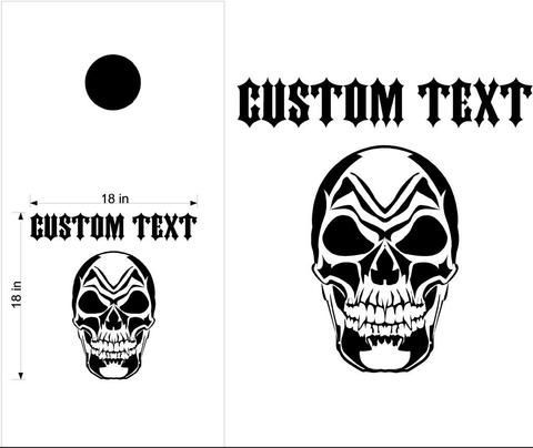 Skull Skulls Cornhole Board Decals Flag Stickers Graphics Wrap Bag Toss Bean Baggo SK03