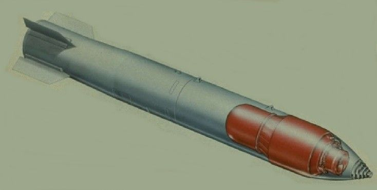This is a cutaway of a B-83 strategic thermonuclear bomb.