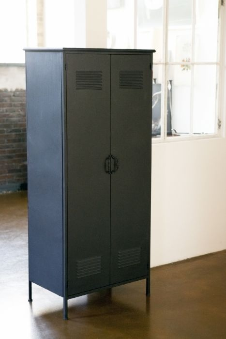 New vintage industriële lockerkast zwart | Rootsmann