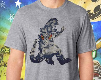 Godzilla Soviet Era Poster Gray Men's T-Shirt
