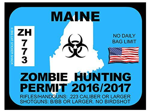 17 best images about zombie hunting permits on pinterest for Maine fishing license