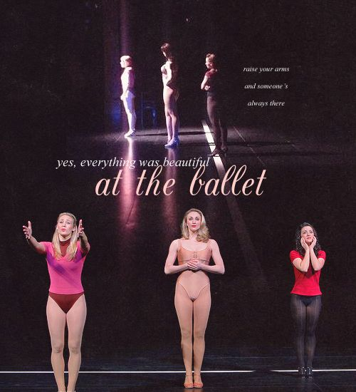 I was pretty...I was happy...at the ballet