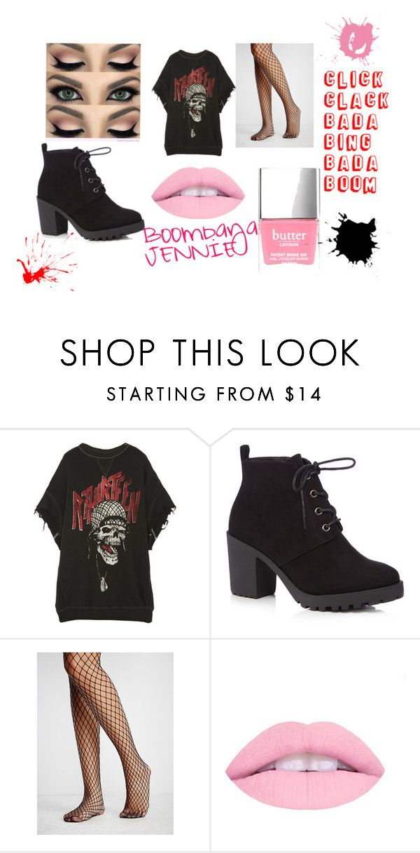 """""""BlackPink Boombaya~Jennie Inspired Outfit"""" by kpoptrash2233 on Polyvore featuring R13, Red Herring and Free People"""