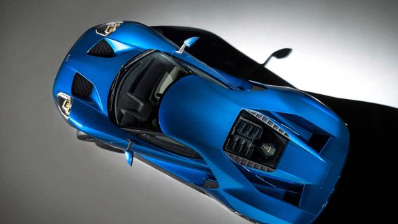 Суперкар Ford GT 2017 / Форд GT 2017 – вид сверху