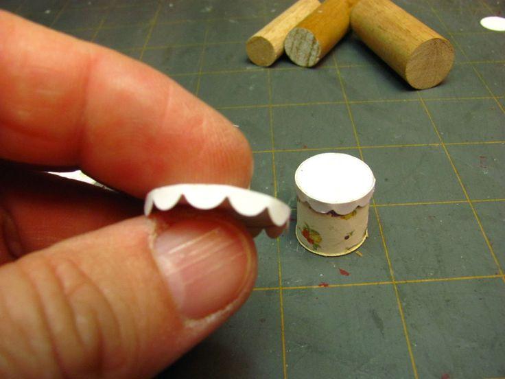 Dollhouse Minyatür Mobilya - Rehberler | 1 inç minis: 1 INCH ÖLÇEKLİ VINTAGE KART KANİSTER SET - stok kartı ayarlanmış bir 1 inç çaplı eski teneke kutu nasıl yapılır.