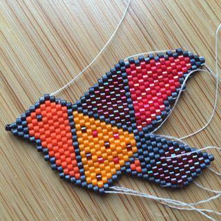 Ma version de l'oiseau de @rose_moustache (bravo et merci)... Faut rentrer les…