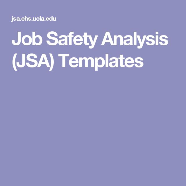 104 best Safety images on Pinterest Workplace safety, Health and - jsa form template