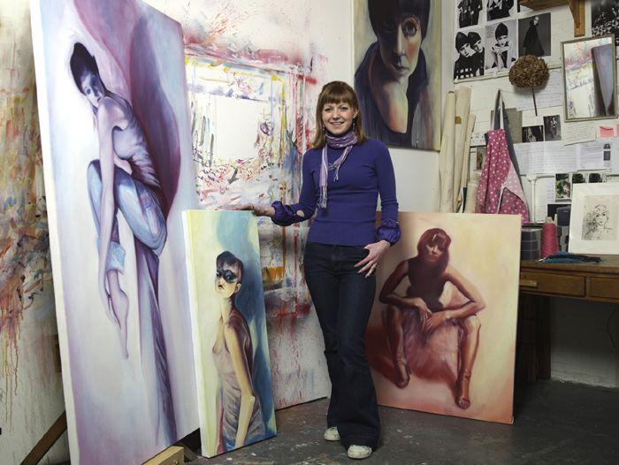 Charlie Ricket, painter, Surrey Artists Open Studios