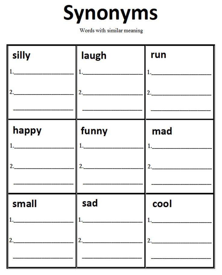 2nd Grade synonyms and antonyms worksheets 2nd grade : Synonym-worksheet & Synonyms