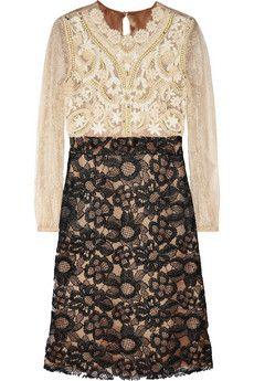 Valentino Embellished lace dress | THE OUTNET