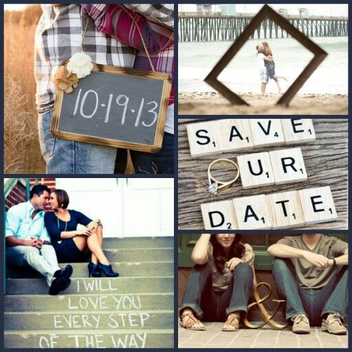 Save the Date engagement photo ideas.