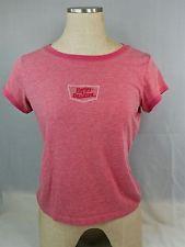 Harley Davidson Motorcycles Ladies Large T-Shirt Pink Red Woodstock Illinois