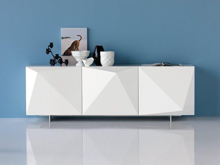 Guarda-louça lacado com portas KAYAK by Cattelan Italia | design Andrea Lucatello