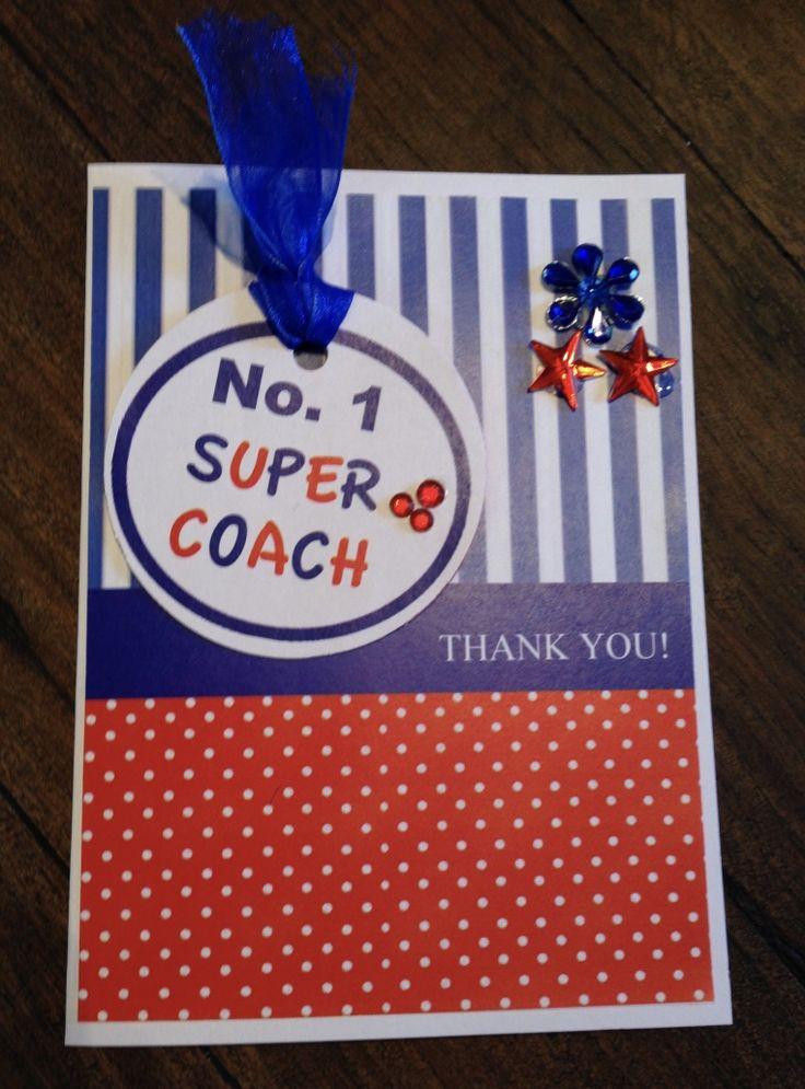 Handmade Coach Thank You Card