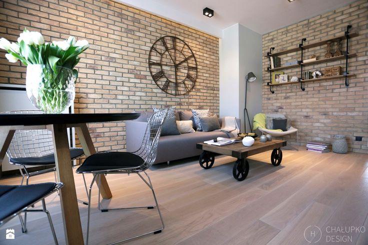 Salon styl Industrialny - zdjęcie od Chałupko Design - Salon - Styl Industrialny…