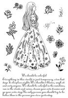 Princess long skirt Transparent Clear Silicone Stamp/Seal for DIY scrapbooking/photo album Decorative clear stamp