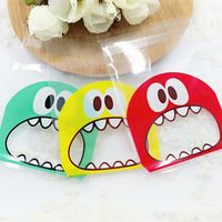 50 pieces/lot 10*10CM  Cute Foodie 3 Colors Self-adhesive Plastic Bags For Cookies, Biscuits
