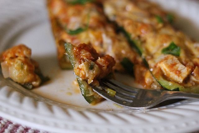 Chicken Enchilada Stuffed Zucchini by jasnicmommy, via Flickr. A ...