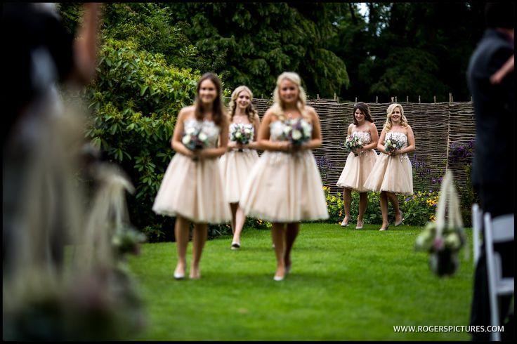 Bridesmaids at Wasing Park in Berkshire