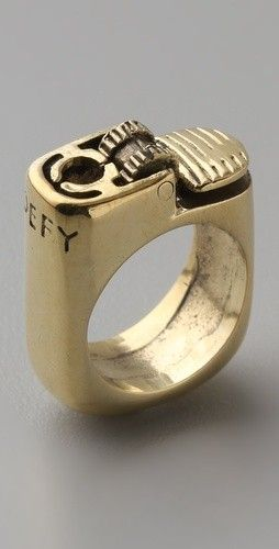edgy lighter ring