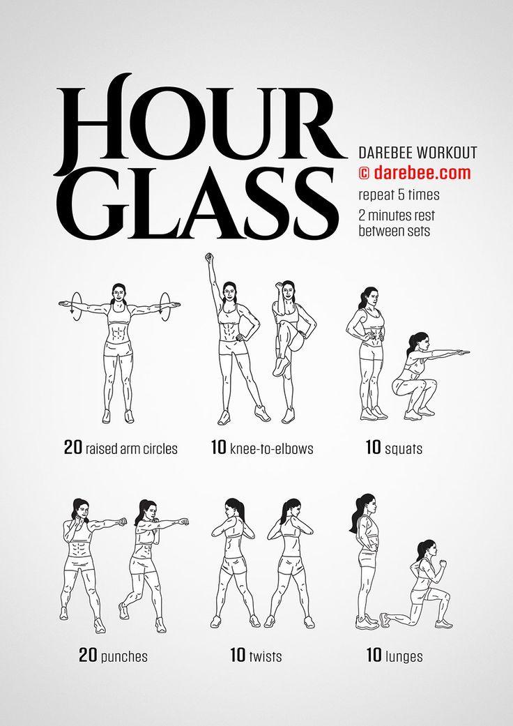DareBee Workouts │ Hourglass Workout – Ganzkörper-Krafttraining mit Fokus auf