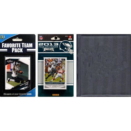 C Collectables NFL Philadelphia Eagles Licensed 2013 Score Team Set and Favorite Player Trading Card Pack Plus Storage Album