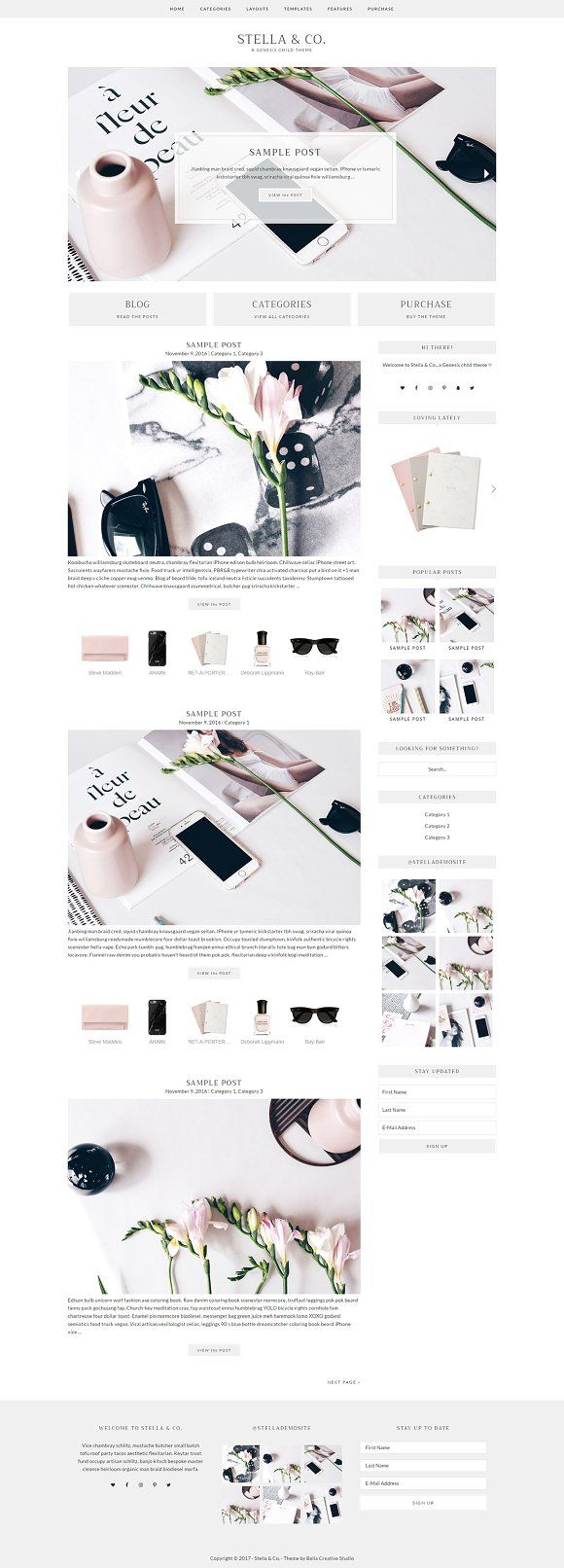 Stella & Co. - WordPress Theme by Bella Creative Studio on @creativemarket