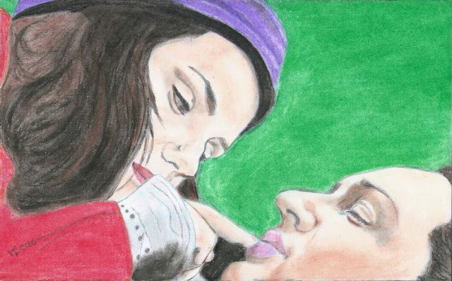 Charlotte Riley and Tom Hardy by Vanessafari - #CharlotteRiley and #TomHardy in #WutheringHeights, by #Vanessafari. This drawing and more at vanessafari.com