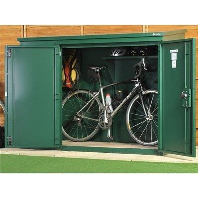 Asgard bike shed - £580 6 x 3 (internal = 183 x 93 x 144 high) - NOTE external measurement is 1990 x 1100; most secure shed available (insurance approved); all weather construction