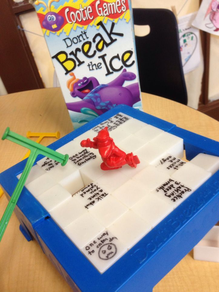 Here are a couple simple and easy to make therapeutic board games. These are also games you can find at your local second hand toy shop. :) Don't Break the Ice- anger management style Simply write ...