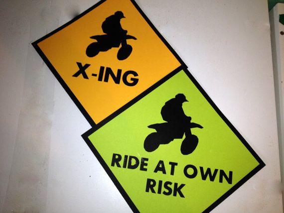 Dirt Bike Motorcross Birthday Party Signs