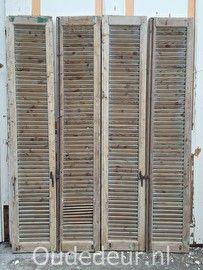 nr. 450 set van 6 geloogde louvre deuren