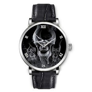 Topgraph Genuine Leather Band Fashionable Watches Skull Form by Smoke Amazon Watches