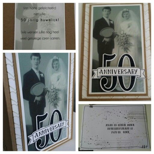 50 th anniversary made with stampin up