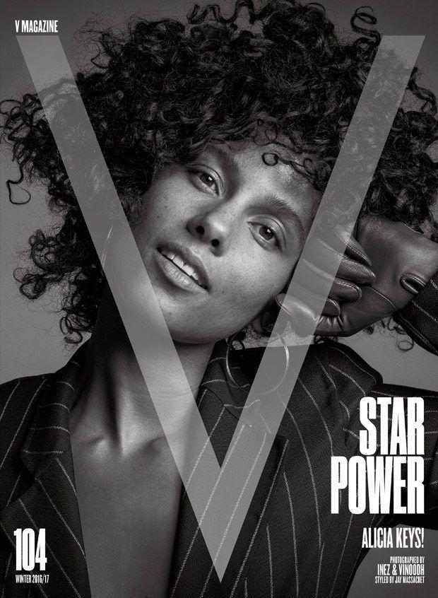 Alicia Keys in V Magazine US Winter 2016 issue