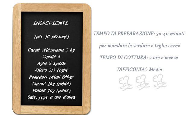 #Ricetta: #SPEZZATINO di MANZO con PATATE e CAROTE #ingredientispezzatino
