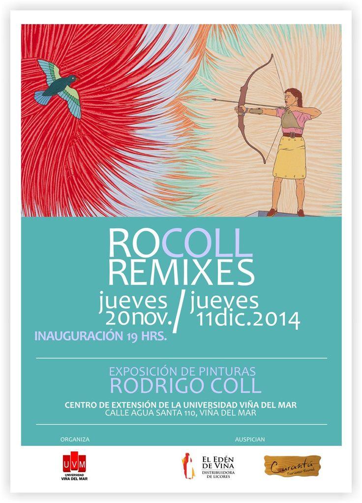 """Inauguración exposición """"RoColl Remixes"""" en Dirección de Extensión UVM"""