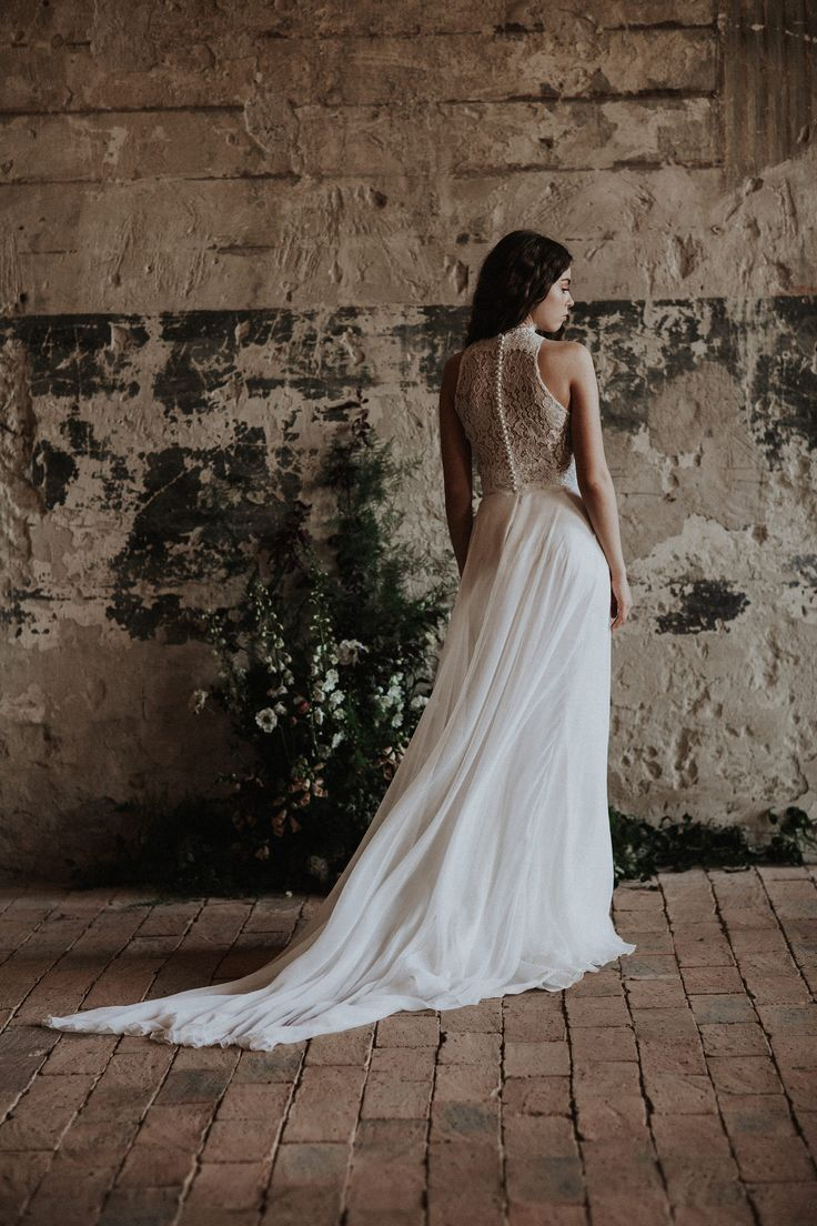 The Celine top and the Cintia skirt / Nora Sarman Bridal / photo Pinewood Weddings