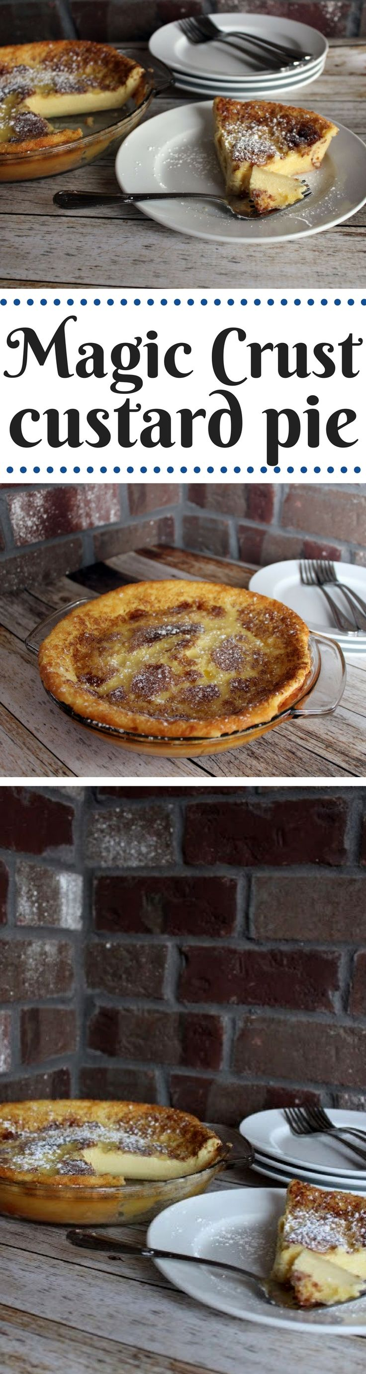 My mom used to make this yummy custard. The flour settles to the bottom and creates its own crust. Easy and very good!